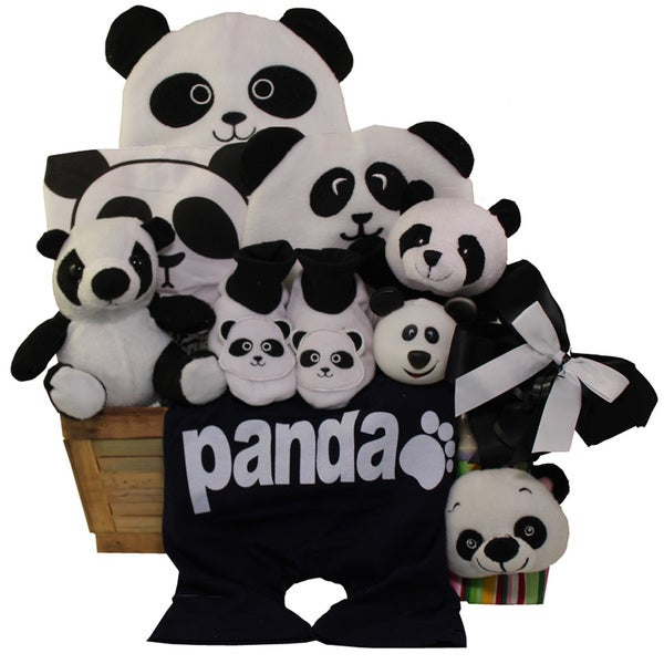 Panda Mania Neutral Baby Bear Gift Basket 17587949