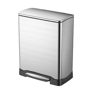 Household Essentials Stainless Steel 50 Liter NEO Cube Trash Can