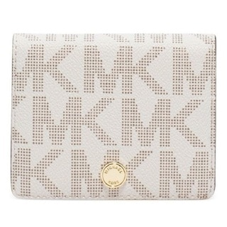 Michael Kors Jet Set Vanilla Logo Travel Flap Card Holder
