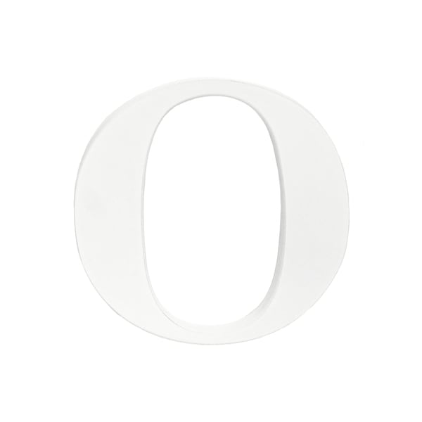 Little Haven White Hanging Wall Letter O
