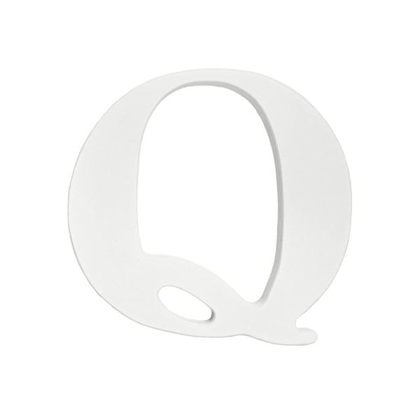 Little Haven White Hanging Wall Letter Q