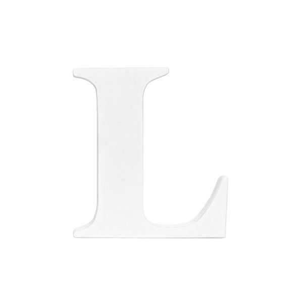Little Haven White Hanging Wall Letter L