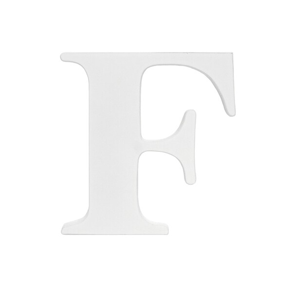 Little Haven White Hanging Wall Letter F