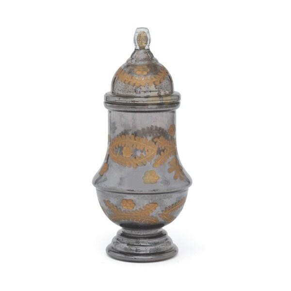 Hip Vintage Empress Black and Gold Mercury Jar Accent Piece