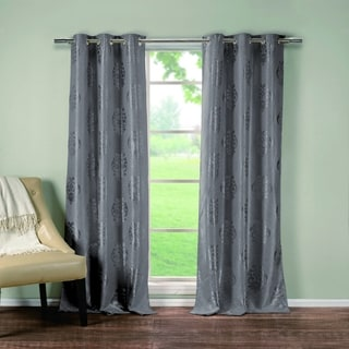 Hastings Heavy Metallic Blackout Grommet Pair Curtain Panel Pair