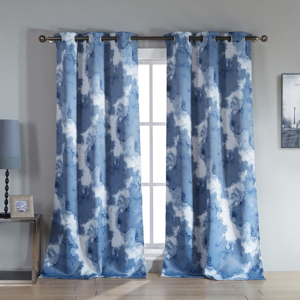 Duck River Kittalilly Grommet Top Thermal Insulated Blackout Curtain Panel Pair