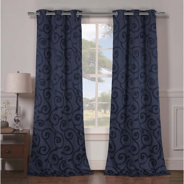 Duck River Lewis Grommet Top Thermal Insulated Blackout Curtain Panel Pair