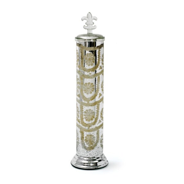 Hip Vintage Boulevard Etched Jar Accent Piece