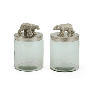 Hip Vintage Pair Of Ardsley Jars Accent Piece