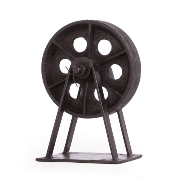 Hip Vintage Lincoln Mill Wheel Accent Piece