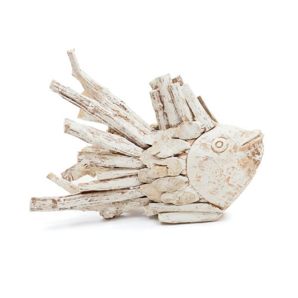 Hip Vintage Driftwood Fish Accent Piece