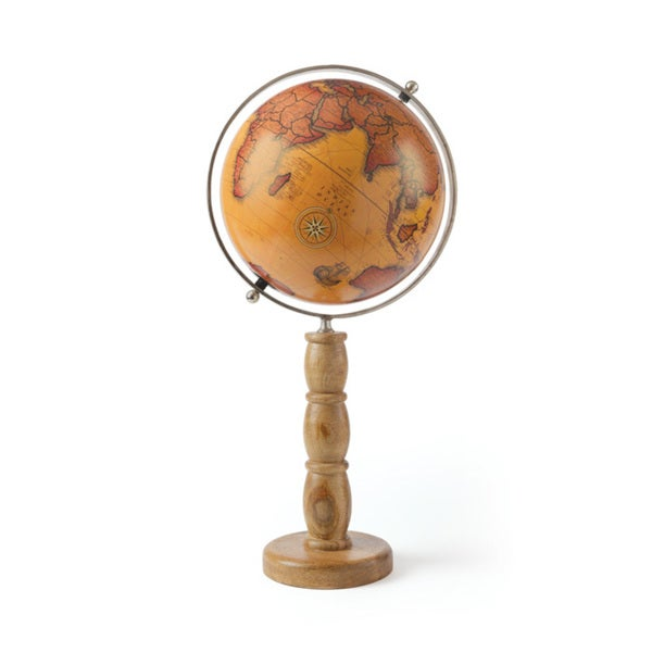 Hip Vintage Cousteau Globe Accent Piece