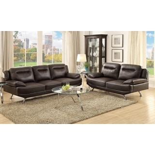 Ercolano Loveseat and Sofa Upholstered in Bonded Leather