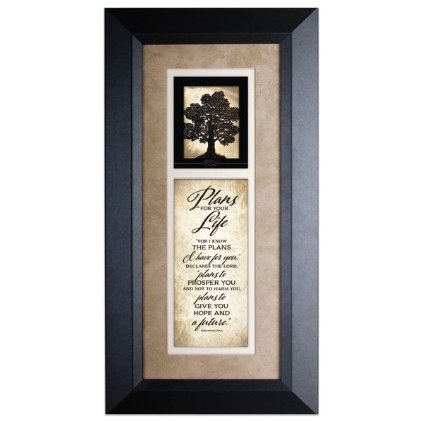 Plans For Your Life Wood Framed Art with Easel