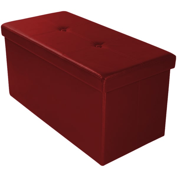 "30"" Foldable Storage Ottoman - Assorted Colors"