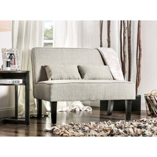 Furniture of America Amirsa Contemporary Linen-like Upholstered Armless Settee