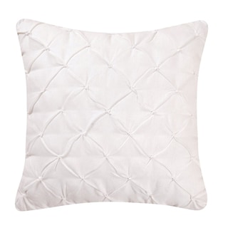 White Diamond Tuck Pillow (Set of 2)