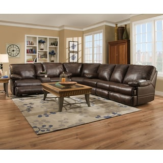 Simmons Upholstery Miracle Saddle Full Motion Sectional