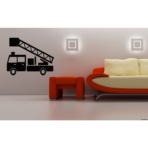 Car crane lift Wall Art Sticker Decal