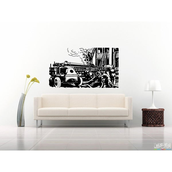 Fire Truck Fire Wall Art Sticker Decal