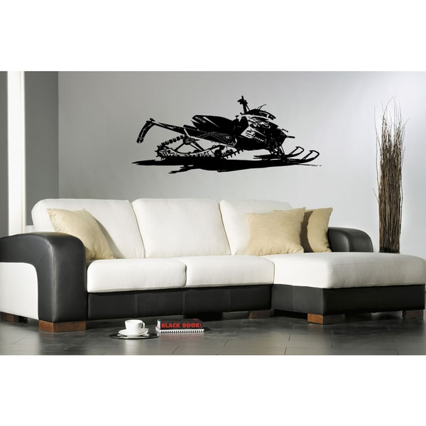 The race is on Snowmobile Wall Art Sticker Decal