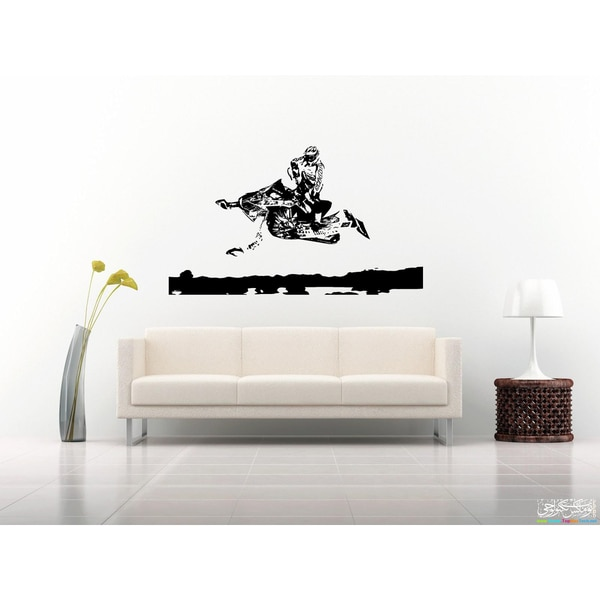Gymkhana Snowmobile Wall Art Sticker Decal