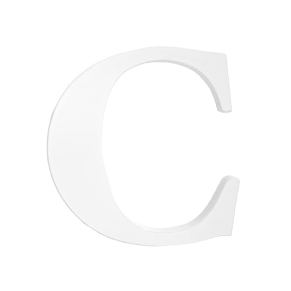 Little Haven White Hanging Wall Letter C