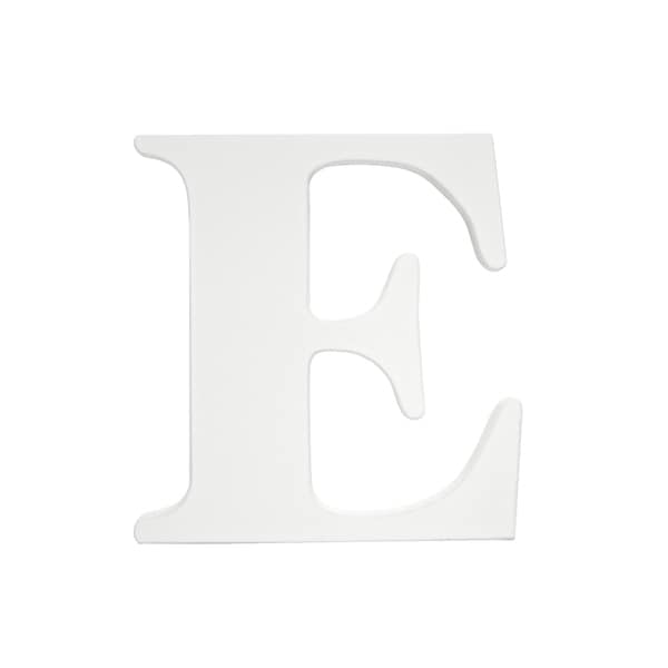 Little Haven White Hanging Wall Letter E