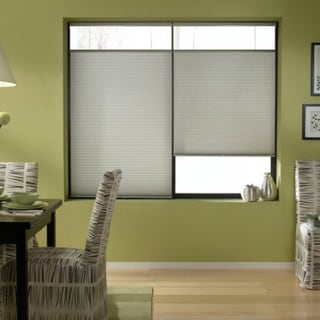 Cordless Top Down Bottom Up Cellular Shades in Silver (49 to 49.5 Inches Wide)