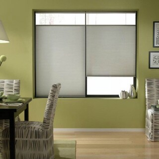 Cordless Top Down Bottom Up Cellular Shades in Silver (46 to 46.5 Inches Wide)