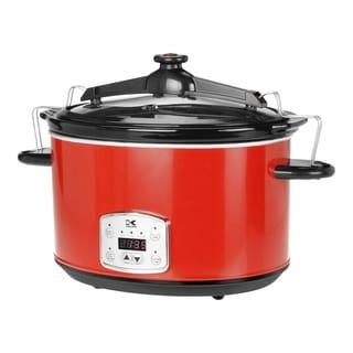 Kalorik Red 8-quart Digital Slow Cooker with Locking Lid