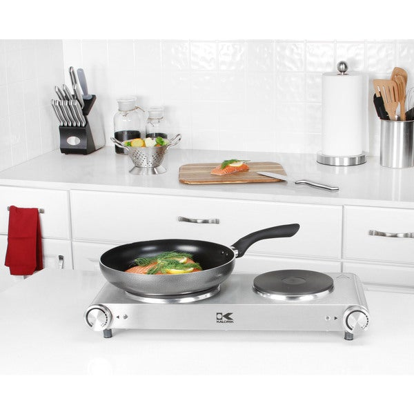 Kalorik Stainless Steel Double Cooking Plate
