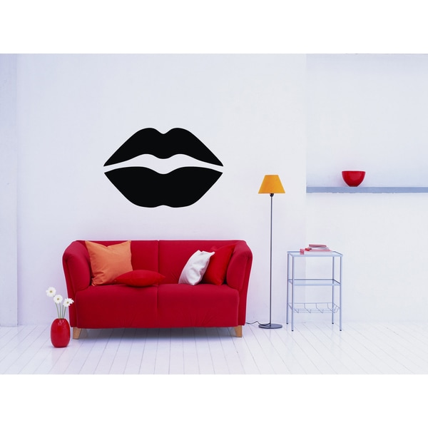 Just Lips Wall Art Sticker Decal 17595162