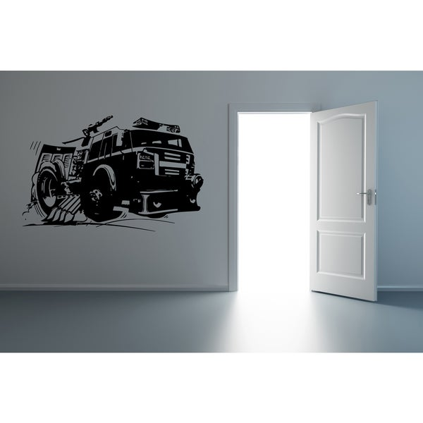 Fire truck To the rescue Wall Art Sticker Decal