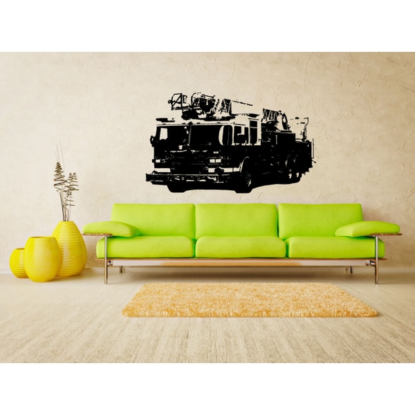 Fire truck service Wall Art Sticker Decal
