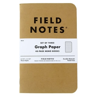 Field Notes Original Kraft Graph 48-Page Memo Book (Pack of 3)