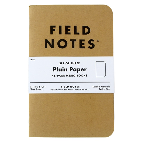 Field Notes Original Kraft Plain 48-Page Memo Book (Pack of 3)