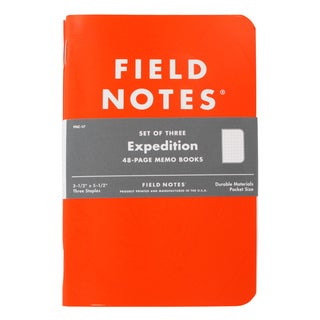 Field Notes Expedition Dot-Graph Paper 48-Page Memo Book (Pack of 3)