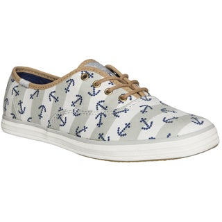 Keds Women's Anchor Stripe White Lace-up Sneakers