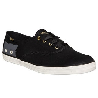 Keds Women's Sneaky Cat Black Canvas Sneakers