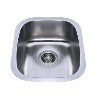 Bekjo BS380 15-inch Undermount Single Bowl 18 Gauge Stainless Steel Kitchen Sink