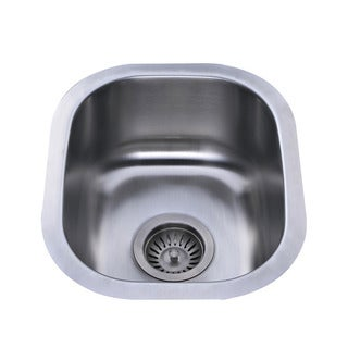 Bekjo BS324 15-inch Undermount Single Bowl 18 Gauge Stainless Steel Kitchen Sink