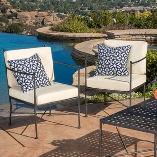 Christopher Knight Home Petra Chair with Cushion (Set of 2)