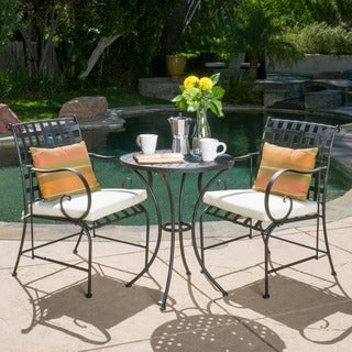 Christopher Knight Home Rincon Outdoor 3-piece Bistro Set with Cushions