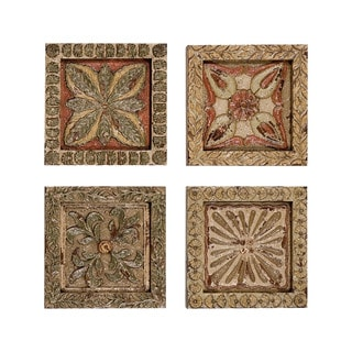 Guildmaster Carved Wall Plaques Art (Set of 4)