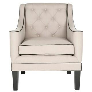 Safavieh Sherman Black Tufted Arm Chair