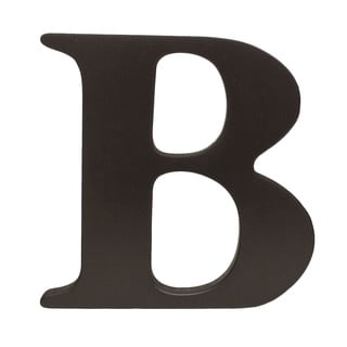 Little Haven Espresso Hanging Wall Letter B