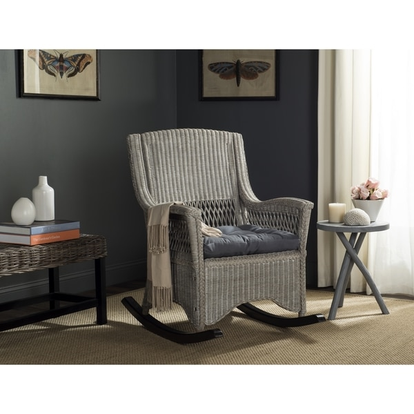Safavieh Aria Antique Grey Rocking Chair