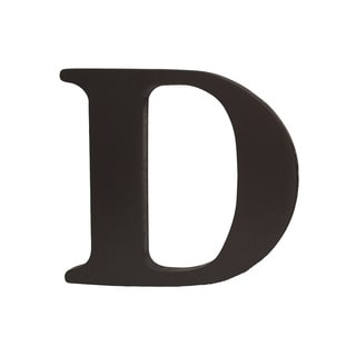 Little Haven Espresso Hanging Wall Letter D