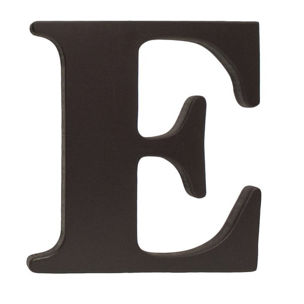 Little Haven Espresso Hanging Wall Letter E